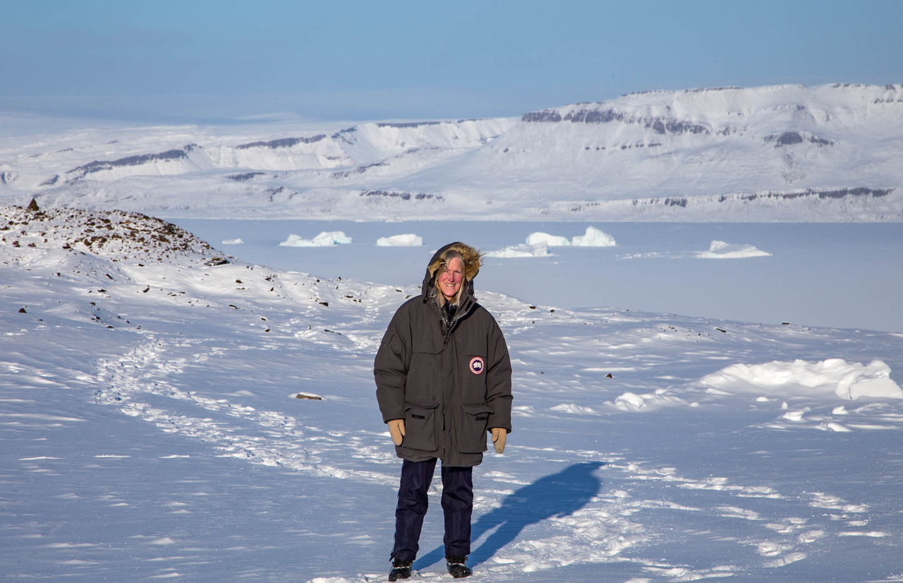 photo of Claire Parkinson in Antarctica