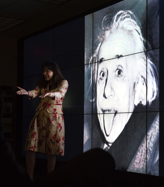 Colleen with Einstein