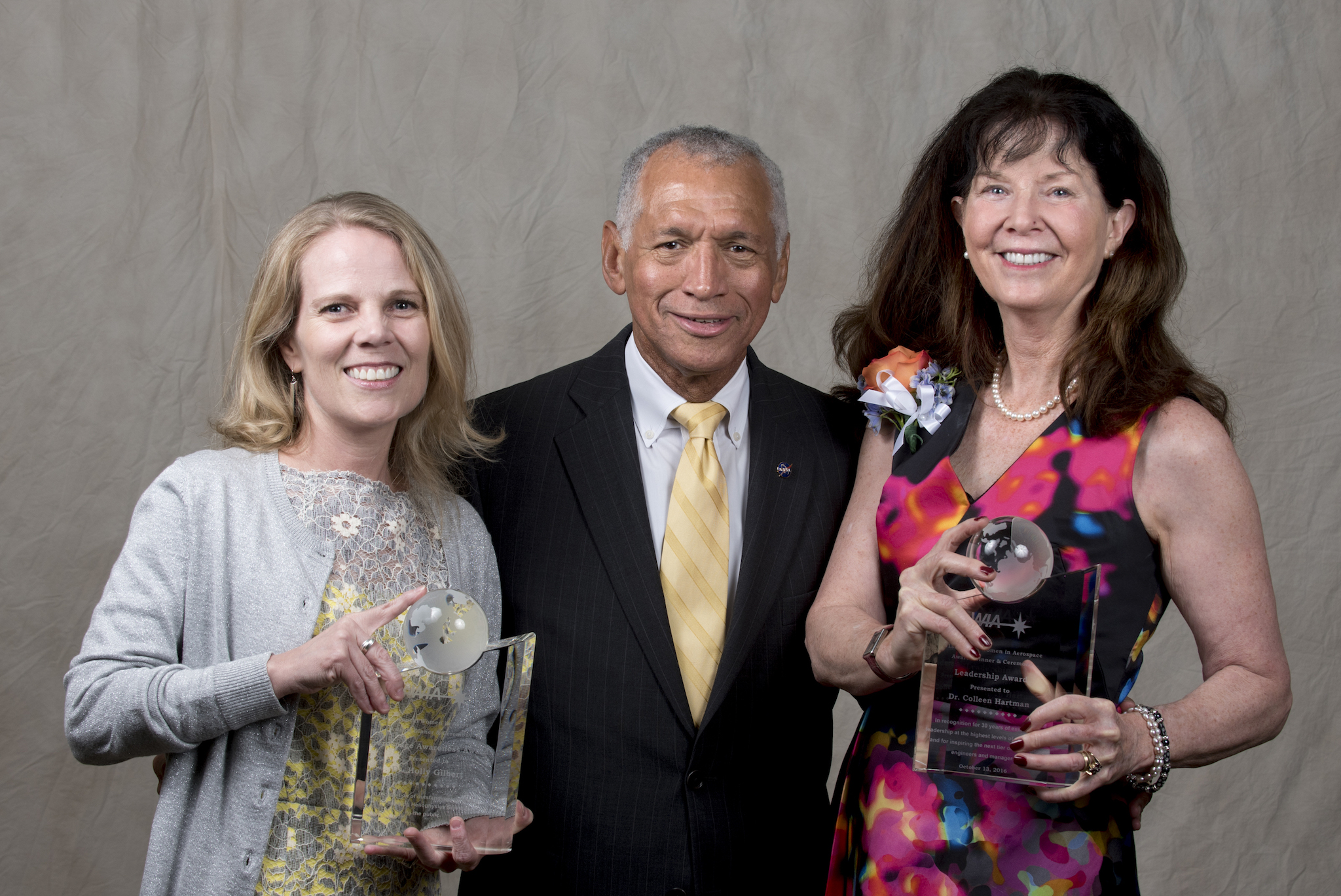 photo of  Holly Gilbert and Colleen Hartman with Administrator Bolden