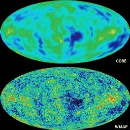 comparison of COBE and WMAP results